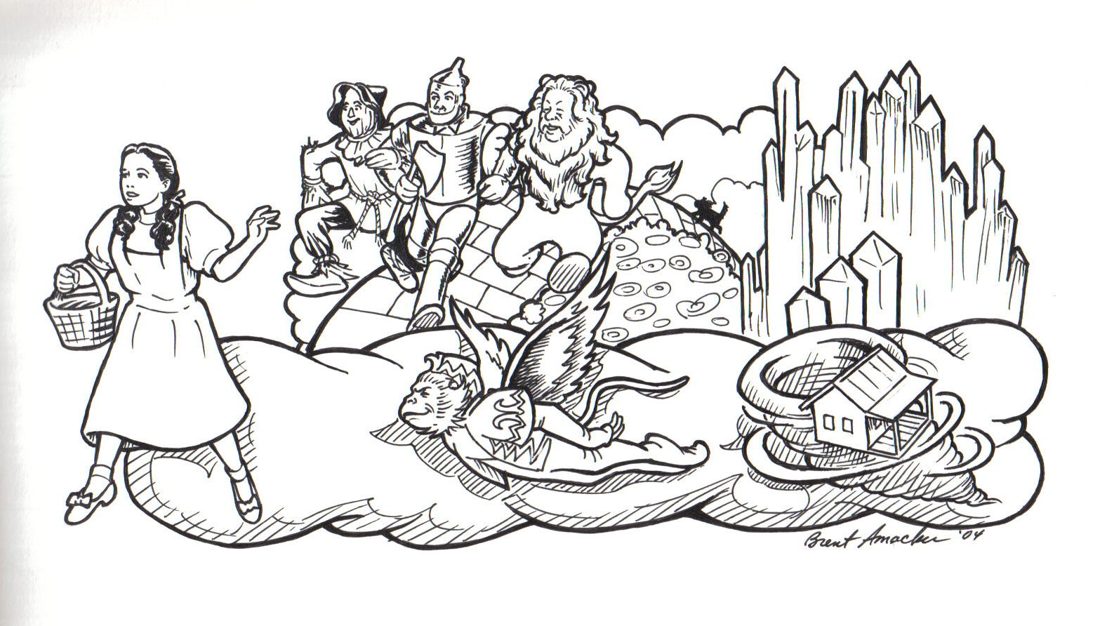 Mardi Gras 4 The Wizard Of Oz Coloring Pages
