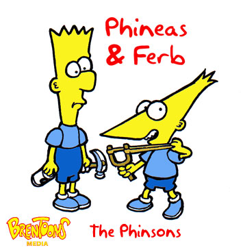 Disney's Phineas & Ferb as 'Simpsons'